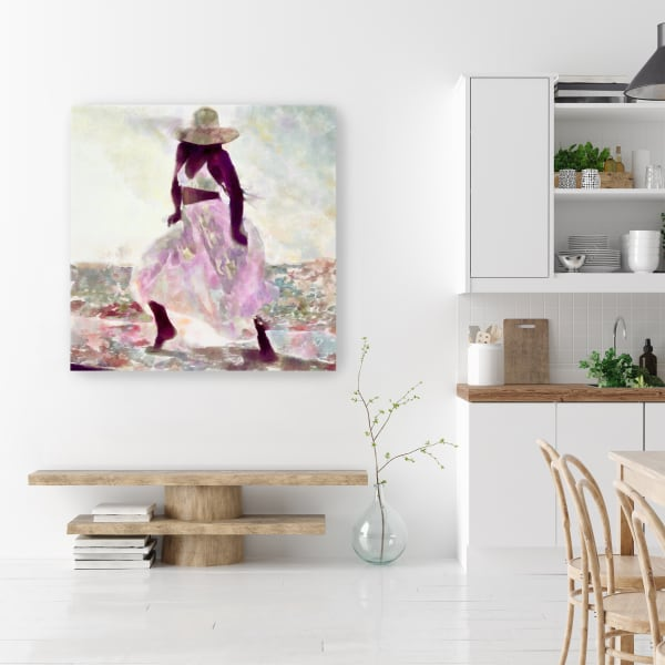 Her Colorful Dance 2 Canvas Wall Art