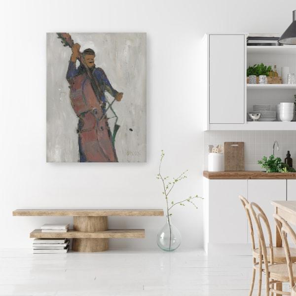 The Man Behind the Bass Canvas Wall Art