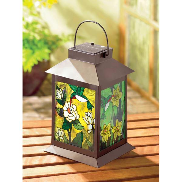 Solar-Powered Floral Lantern