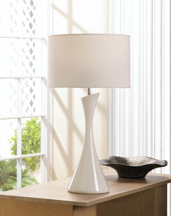 Sleek Modern White Table Lamp