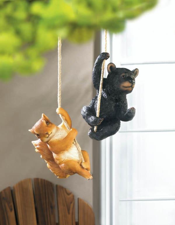 Hanging Squirrel Tree Decor Figurine