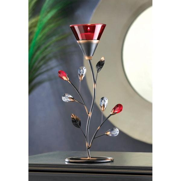 Ruby Blossom Tealight Holder