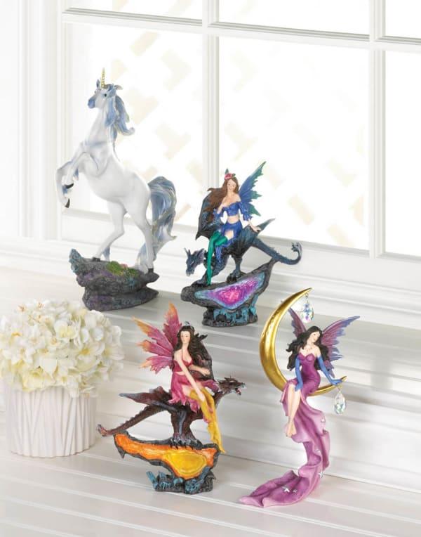 Rearing Unicorn Figurine