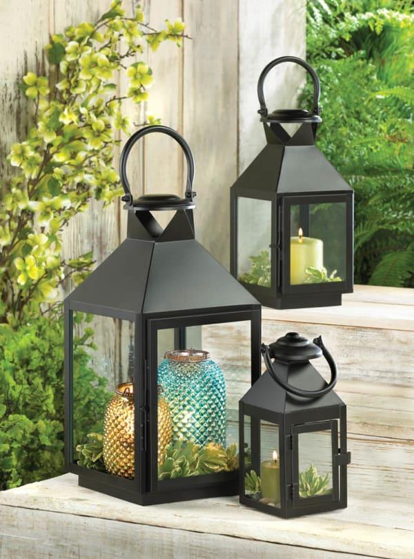 Black Revere Medium Candle Lantern