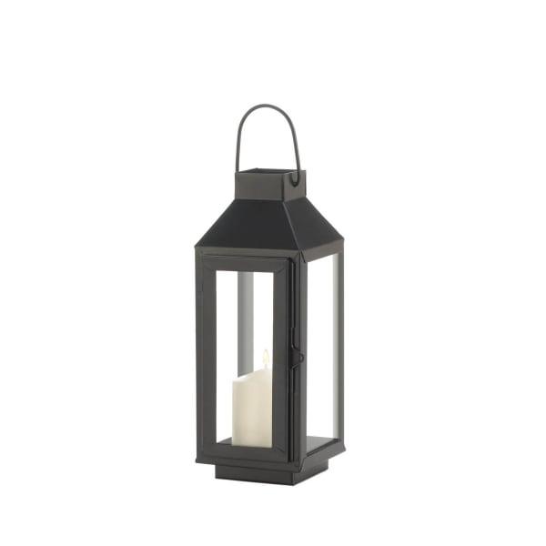 Small Square Top Black Lantern