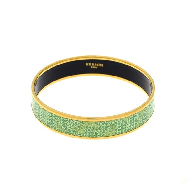 Hermes Enamel Bangle MM Wide Bracelet