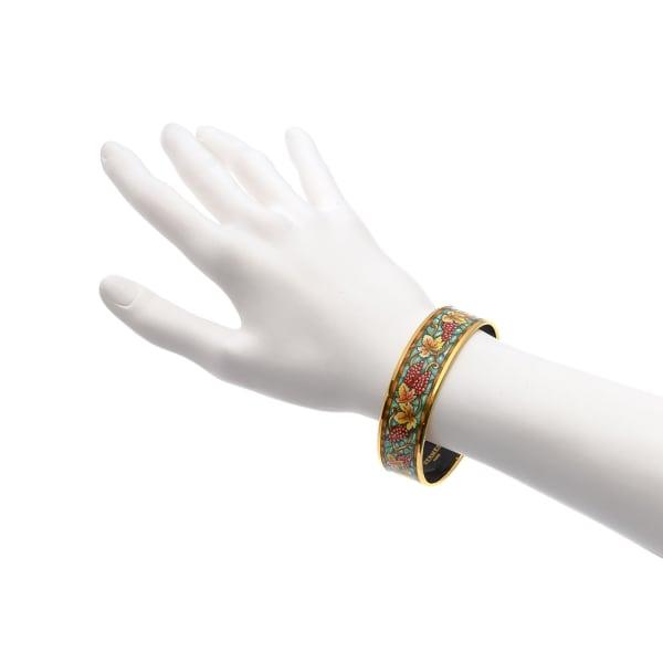 Hermes Enamel Bangle PM Wide Bracelet