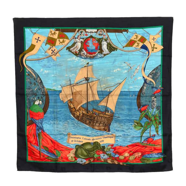Hermes Christophe Colomb Decouvre l'Amerique Scarf