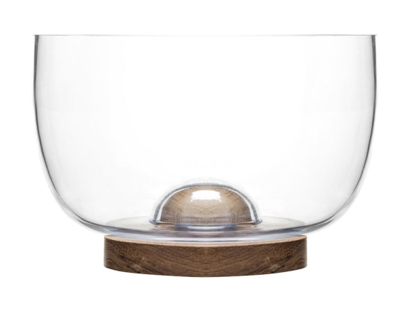 Sagaform Nature Salad Bowl With Oak Trivet