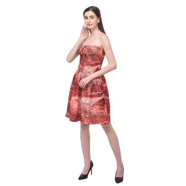 Summer Strapless Short Dress