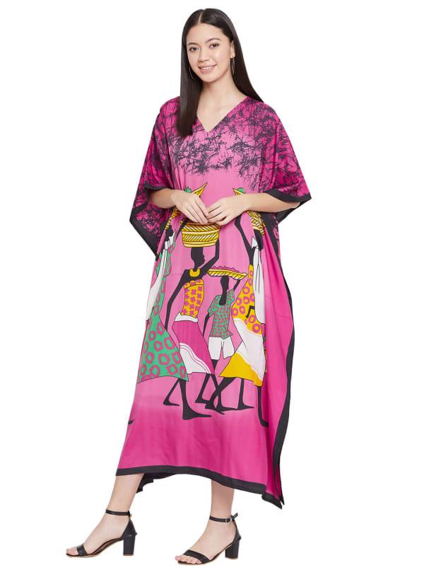 Tribal Handmade Print Kaftan Dress