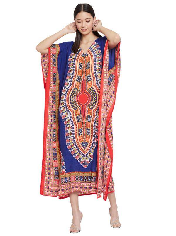Long Handmade Paisley Kaftan Dress