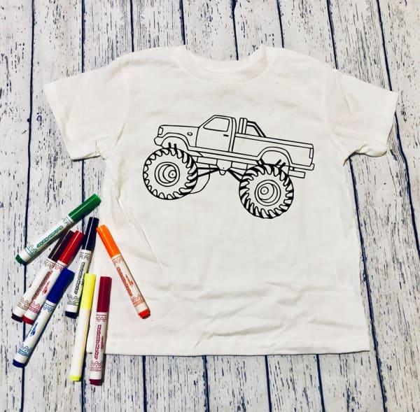 Monster Truck Kids Graphic Tee