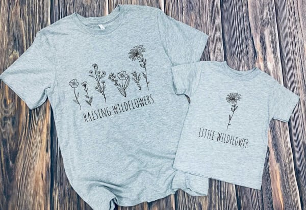 Wildflowers Mommy And Me/Daddy And Me Graphic Tee