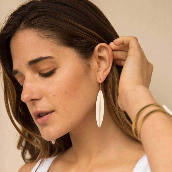 Panra Horn Dangle Earrings