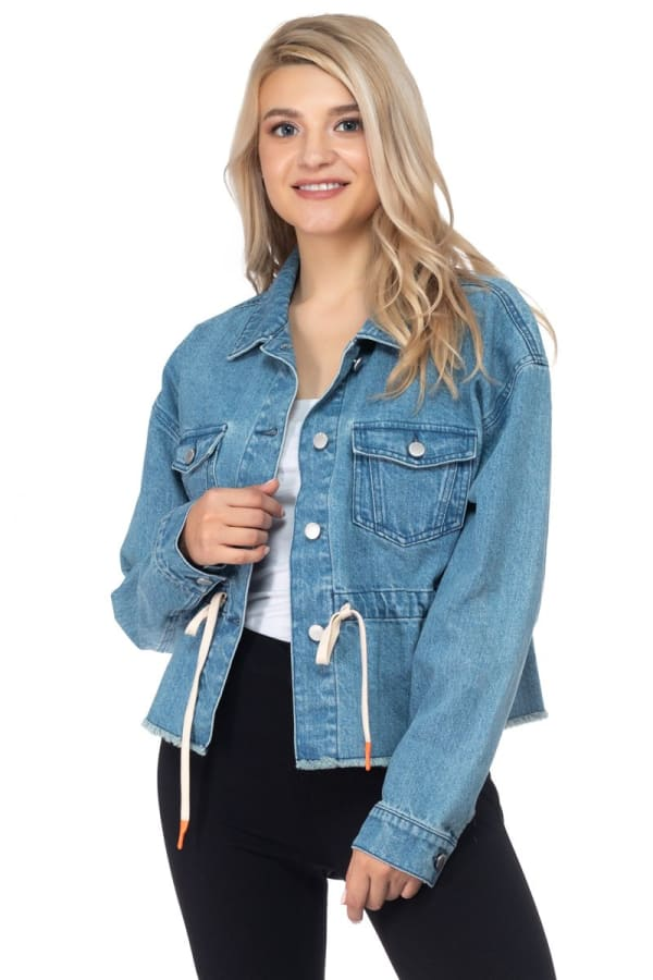 26 International Denim Anorak with Drawstring Waist