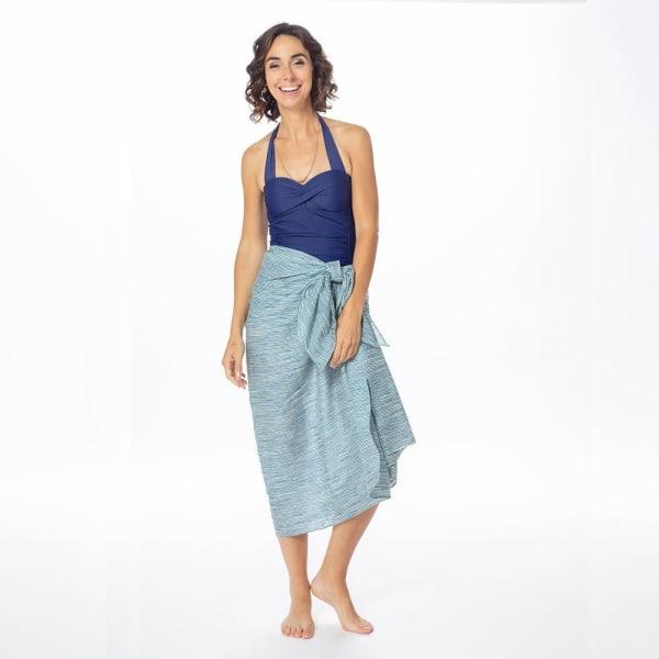 Suri Navy Cotton Pareo