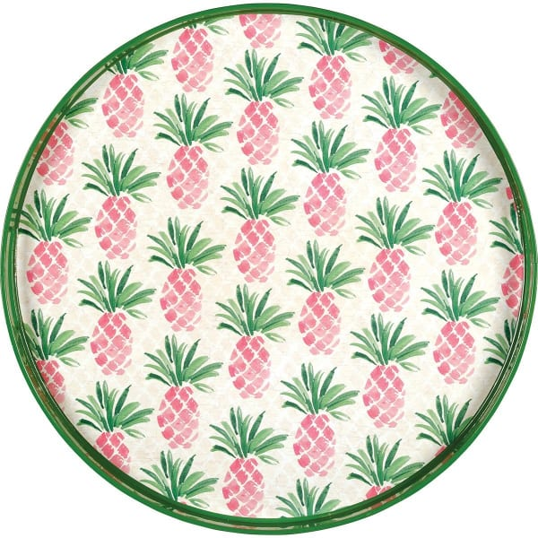 Pink Pineapples Coco Tray 18 in
