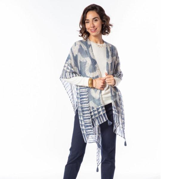 Neema Blue Kimono Scarf