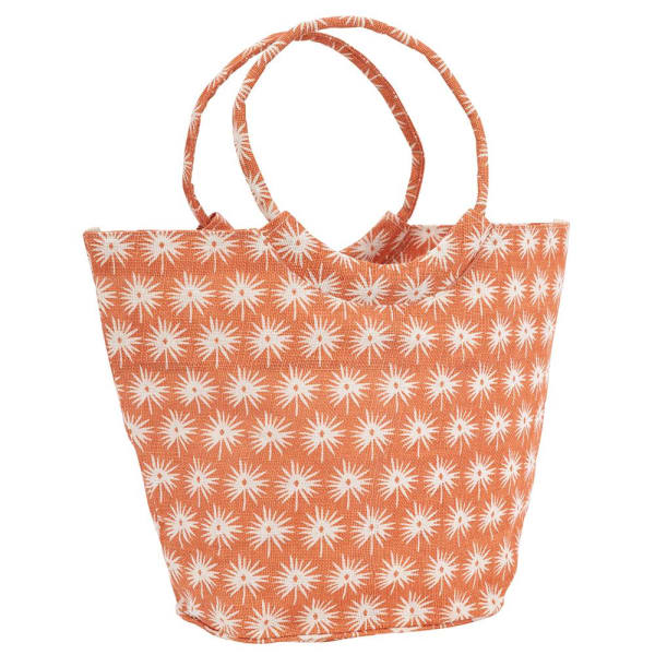 Palmetto Orange Jute Bucket