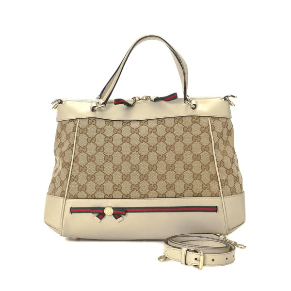 Gucci GG Canvas Mayfair Two Tote Bag