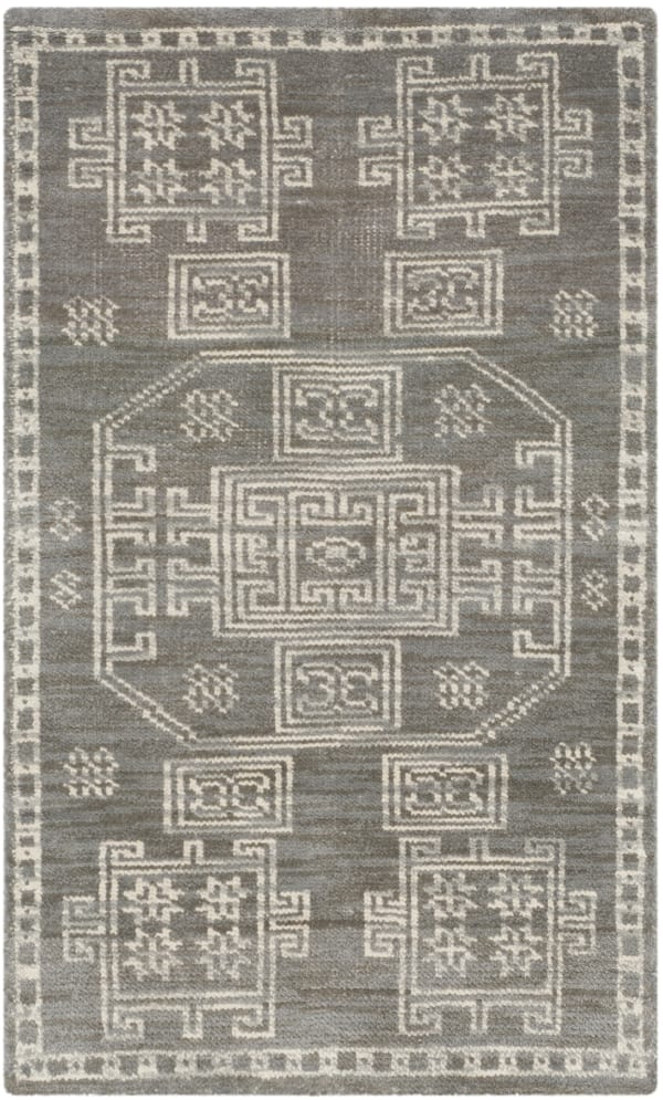 Safavieh Hand-Knotted Gray Wool Rug
