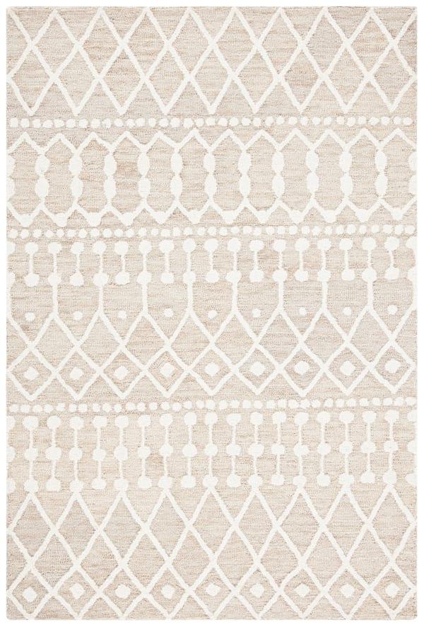 Tan Wool Rug 4' x 6'