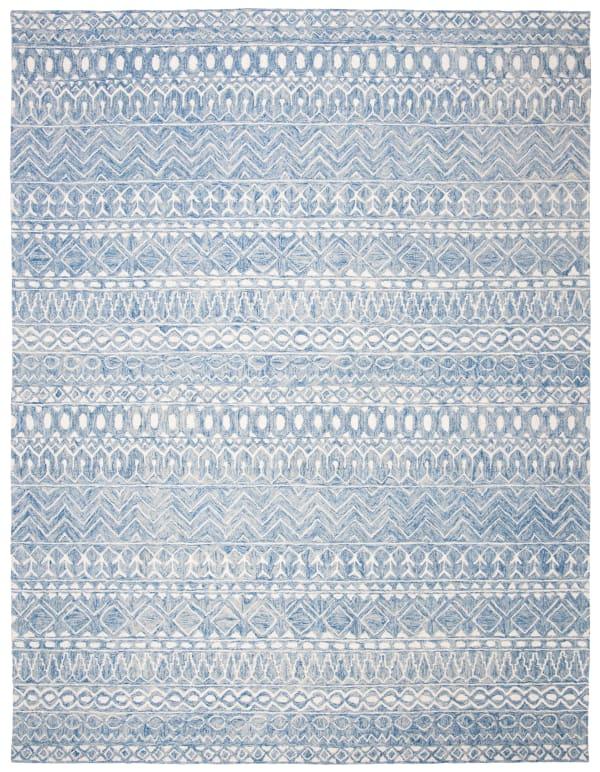 Essence Blue Wool Rug 9' x 12'