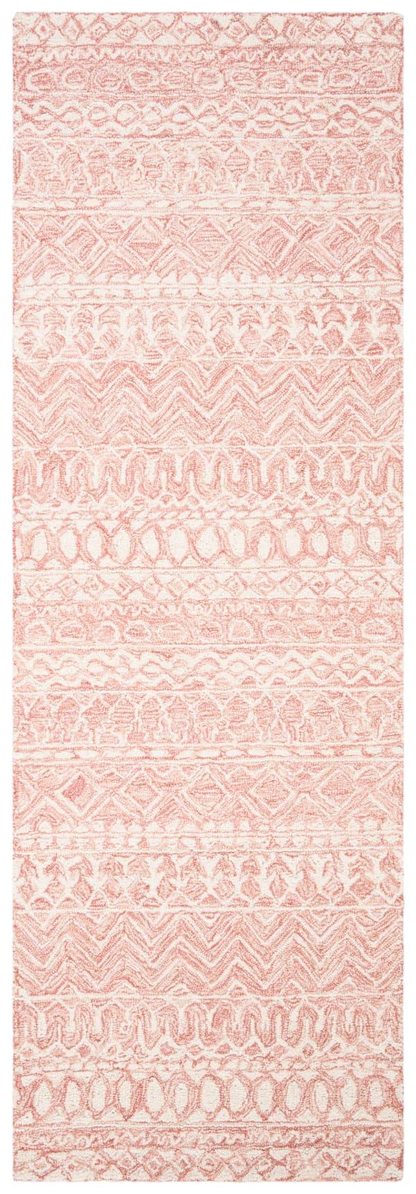 "Essence Pink Wool Rug 2'5"" x 4'"
