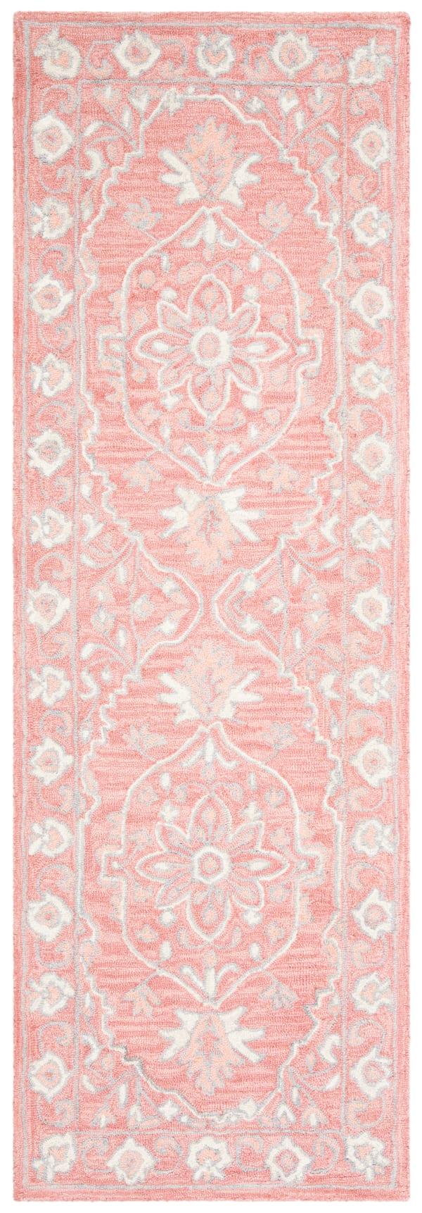 "Safavieh Essence Pink Wool Rug 2'25"" x 7'"