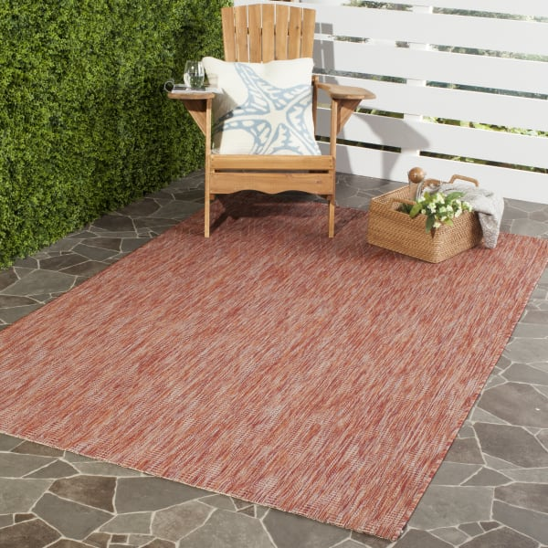 "Safavieh OASIS DIAMOND 2'-7"" X 5' RED POLYPROPYLENE RUG"