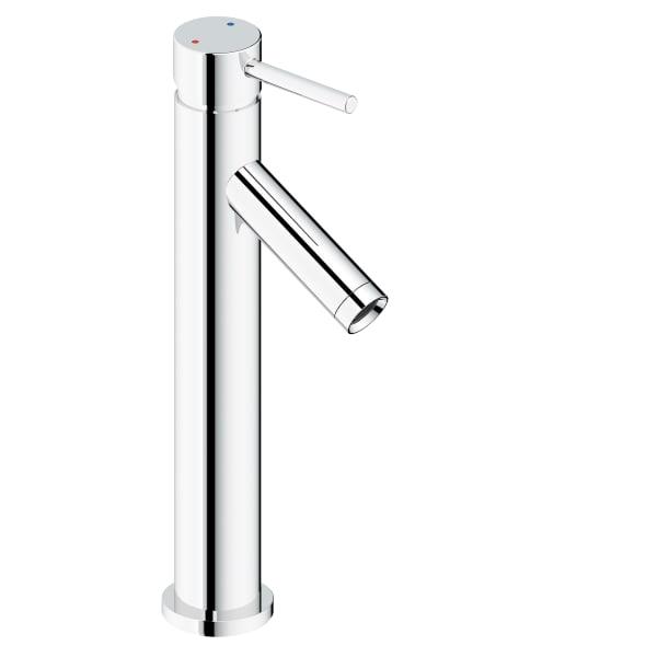 Safavieh Elation Chrome Brass Single Handle 12 Inch Bathroom Vessel Faucet