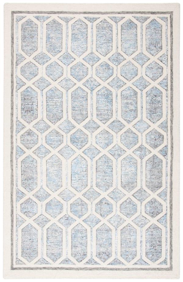 Safavieh Adelina 665 Ivory & Blue Wool Rug