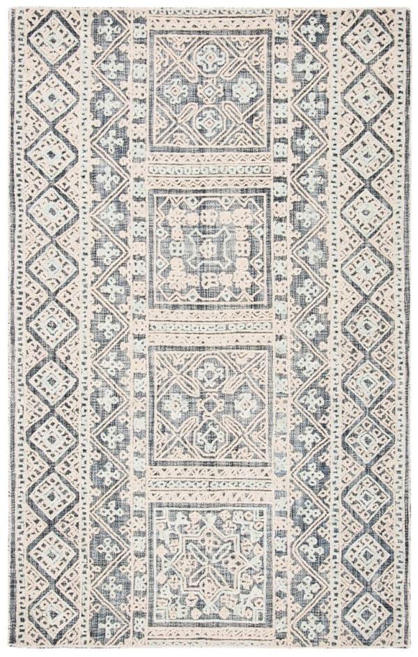 Safavieh Vail White & Blue Wool Rug