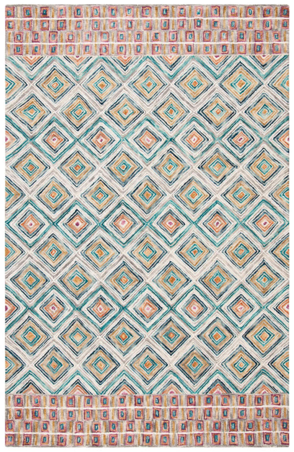 Vail Green & Red Wool Rug