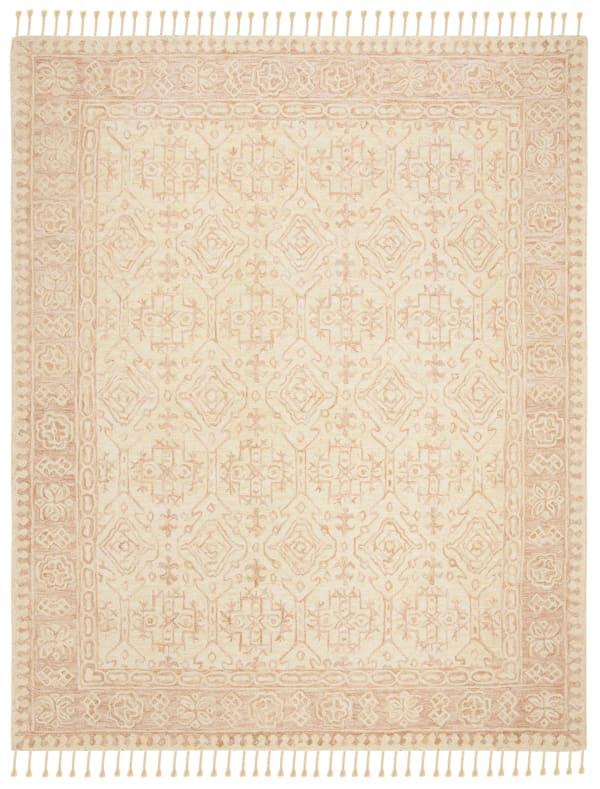Safavieh Vail Ivory & Pink Wool Rug