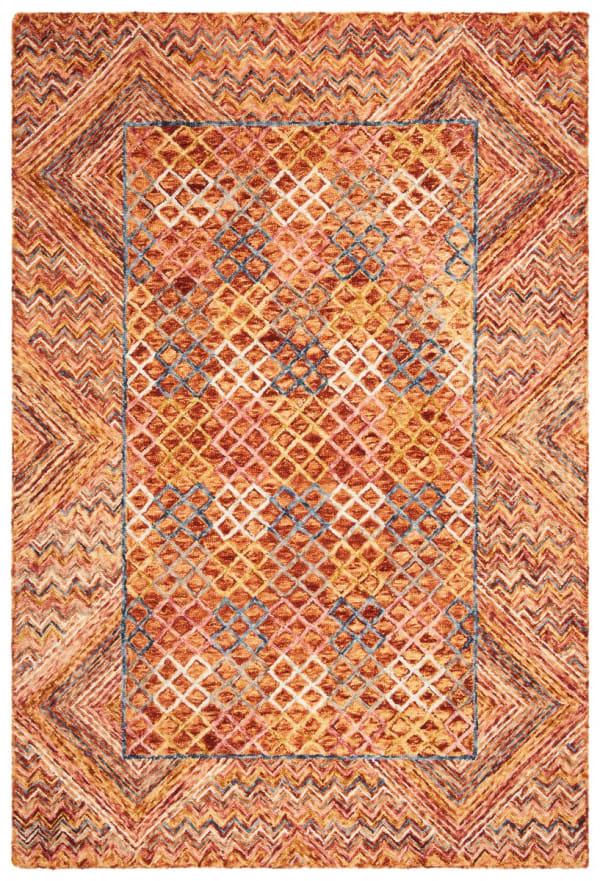 Safavieh Vail Gold & Pink Wool Rug