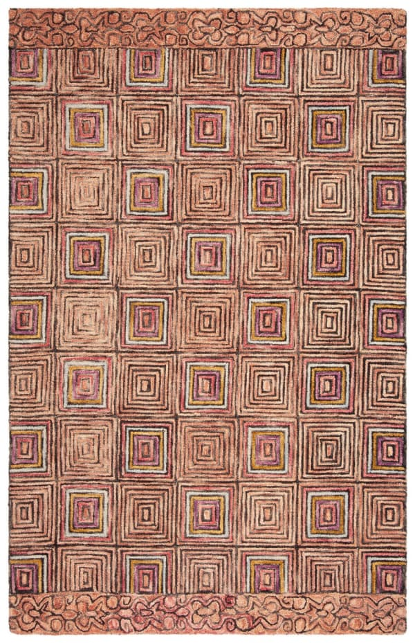 Safavieh Vail Pink & Blue Wool Rug