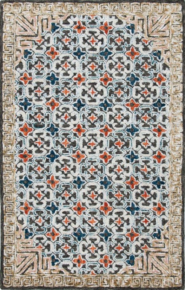 Safavieh Vail  Blue & Brown Wool Rug