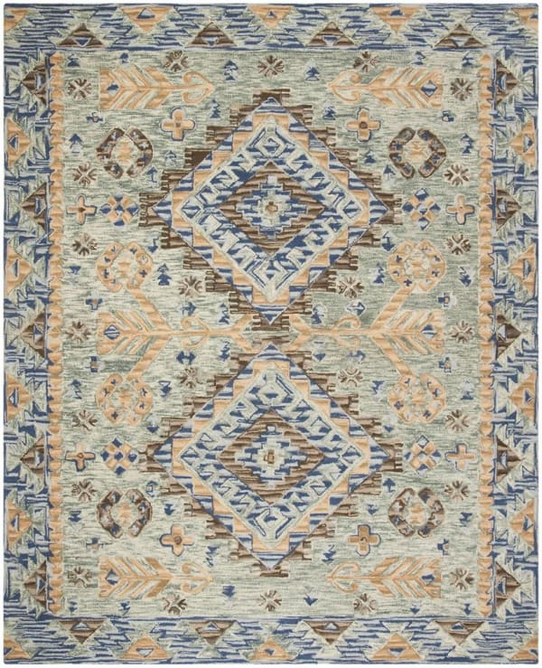 Vail Blue & Brown Wool Rug