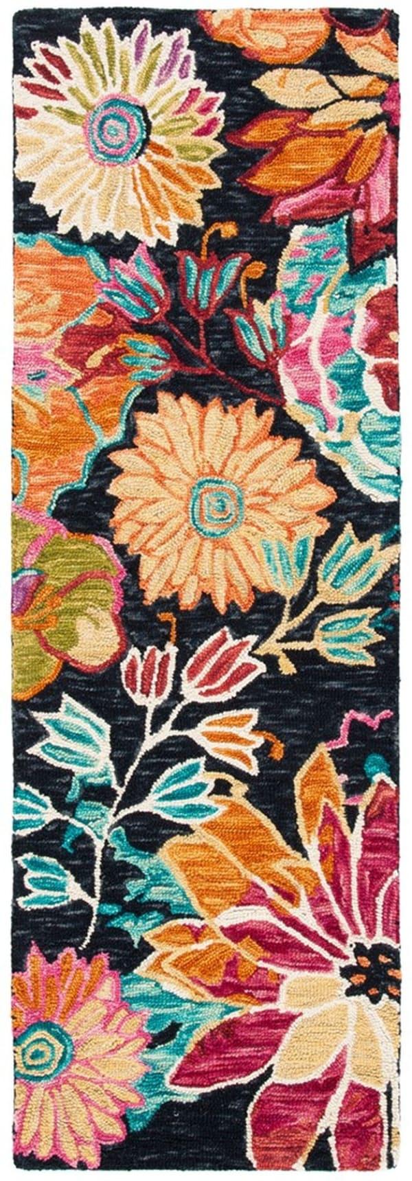 Safavieh Vail Black & Blue Wool Rug