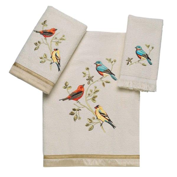 Gilded Birds 3 Pc Towel Set