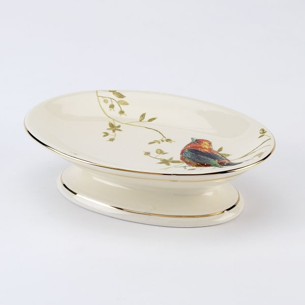 Gilded Birds Soap Dish