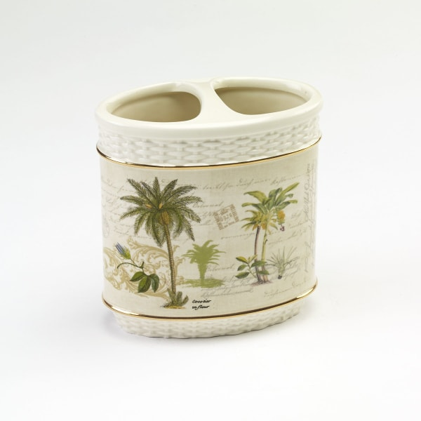 Colony Palm Toothbrush Holder