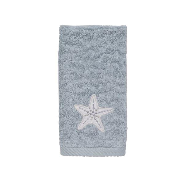 Sequin Shells Fingertip Towel