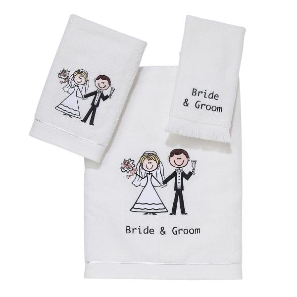 Bride & Groom 3 Piece Towel Set