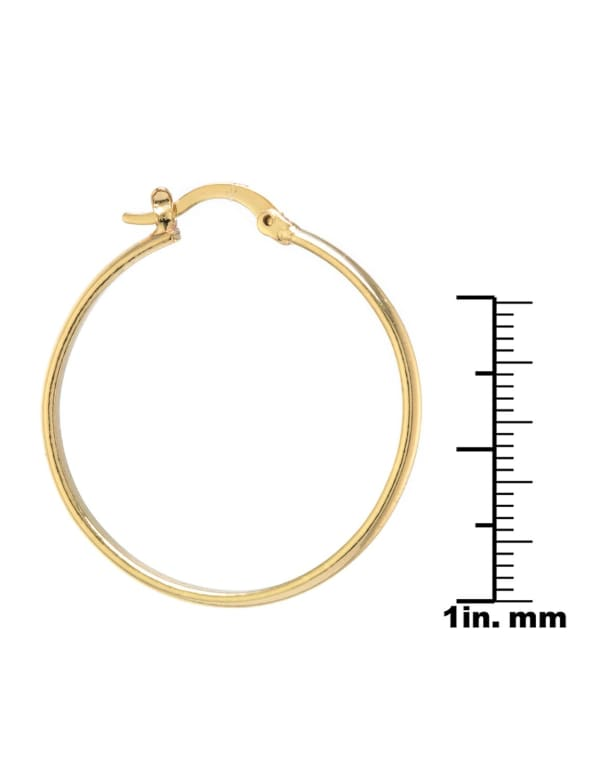 Boxed gold over fine silver plated 32mm clicktop hoops
