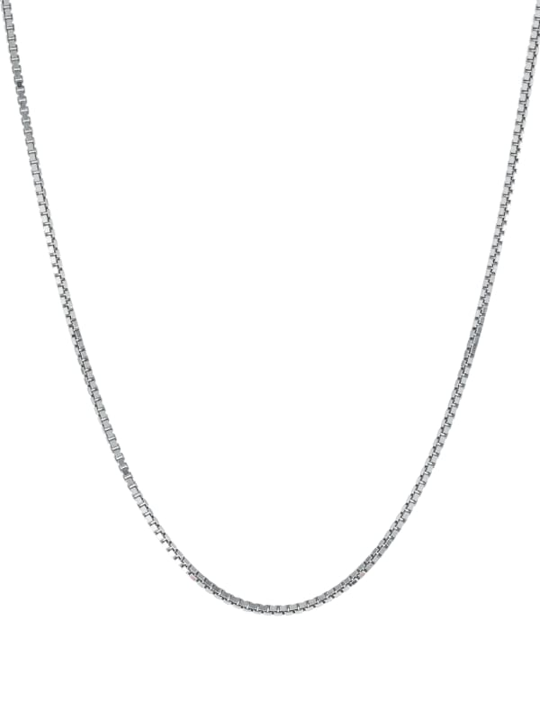 """Sterling Silver 18"""" Box Chain Necklace"""