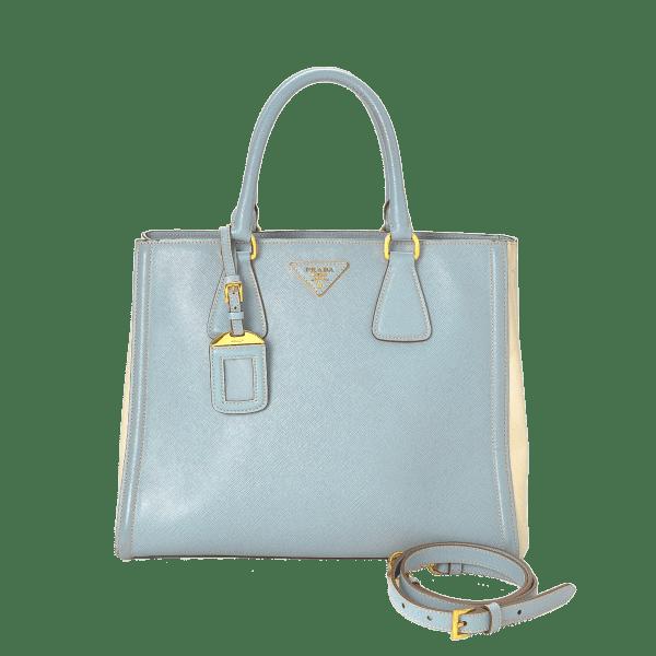 Prada Saffiano Lux Two Way Tote Bag