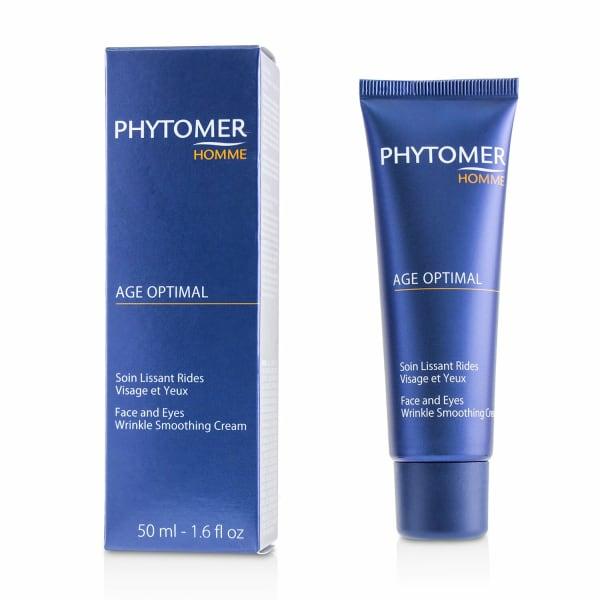Phytomer Men's Homme Age Optimal Face & Eyes Wrinkle Smoothing Cream Balms Moisturizer